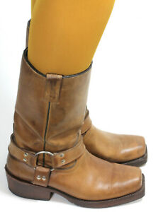 Details about Biker Boots Motorcycle Boots Chopper Cruiser Texas Leather Ladies Boots Buffalo 39 show original title