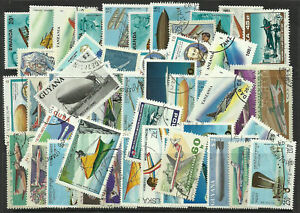 AIRCRAFT-Packet-of-100-Different-Stamps-AVIATION-PLANES-Collection