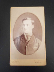 Antique-Cabinet-Photograph-Victorian-Smart-Young-Lad-J-Owen-North-Wales