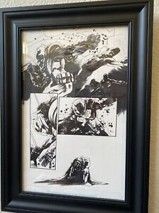Jock-All-Star-Batman-6-Original-Art-Scott-Snyder-Writer-Great-Action-Best-Page