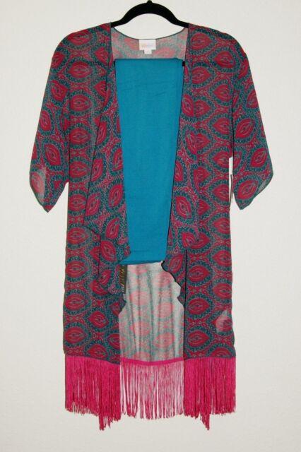 d3f186bd65 New LuLaRoe Chiffon Monroe Kimono / Swimsuit Coverup S   eBay