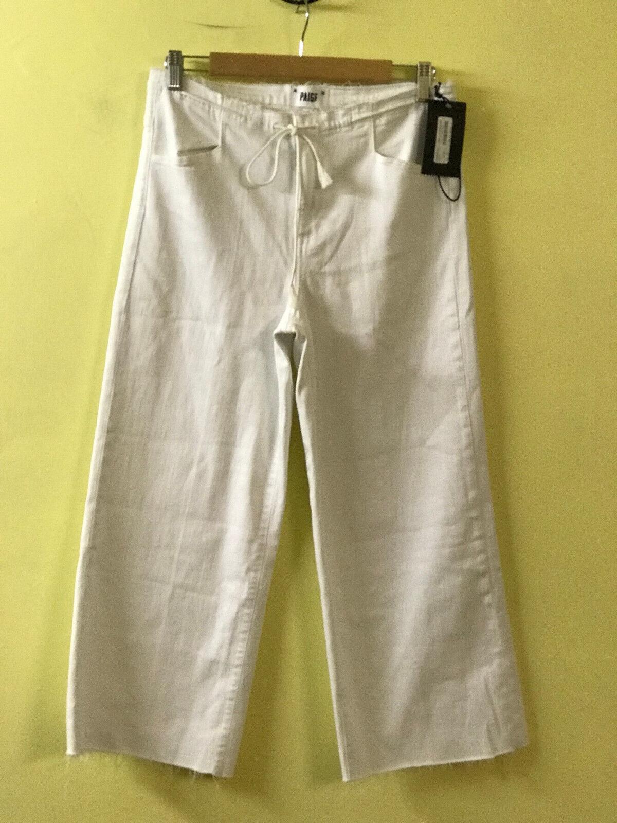 Paige Denim damen Lori Crop Drawstring  239 Jeans 3585B58-OWT  Optic Weiß  27.