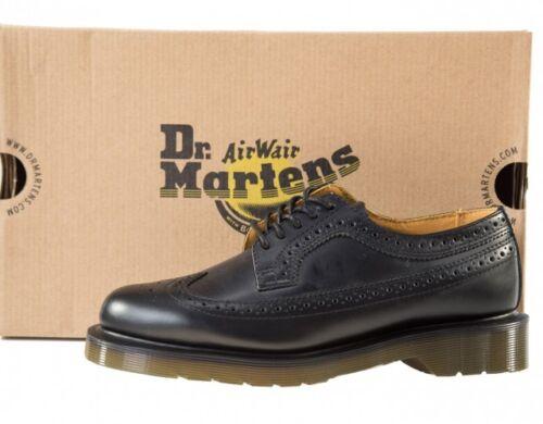 Damen Halbschuhe Doc Dr Martens Black Smooth Brogue 13844001-3989 3 Loch