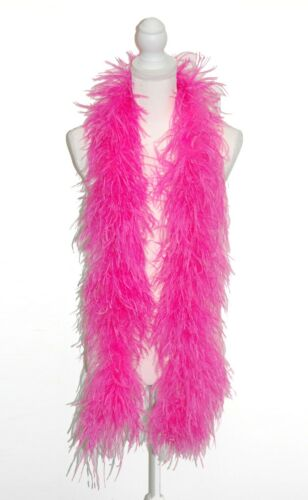 4 Ply OSTRICH FEATHER BOA SHOCKING PINK 2 Yards; Costumes//Craft//Bridal 72/""