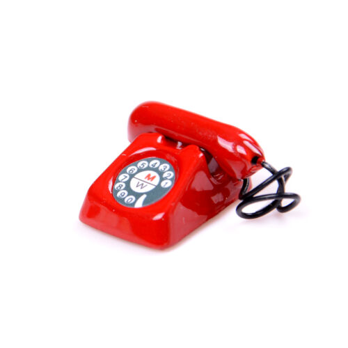 1:12 Old Style Telephone Model Dolls House Miniature Home Decor Phone For SU