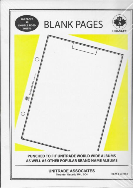 50 - Uni-Safe Blank Pages to Fit Harris 2-Post World ...
