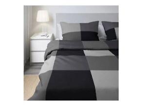 IKEA-Brunkrissla-Duvet-Quilt-Set-comforter-Cover-Grey