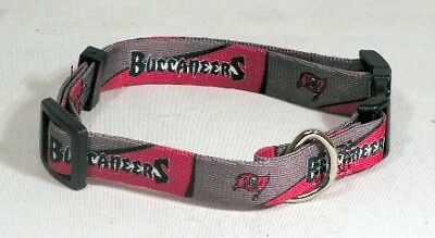 Small Tampa Bay Buccaneers Pet Dog Adjustable Collar All Sizes