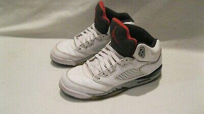 Nike Air Jordan Retro White Cement 5's