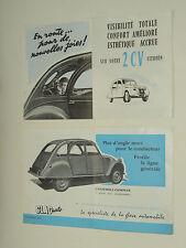 Catalogue Glac Auto 2 CV CITROEN  prospectus brochure prospeckt  cheveaux