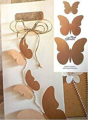 Amichevole Bomboniera Farfalle Assortite Avana Decorazione - N 30 Pz - Art 35507c Aspetto Estetico