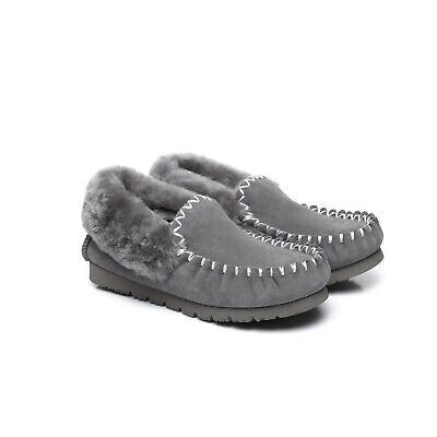 UGG Sheepskin Moccasins Slippers, Genuine Australian Winter Casual Slip-on
