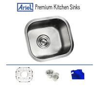 Ariel Premium 13 Stainless Steel Undermount Bar Island Kitchen Sink Single Bowl