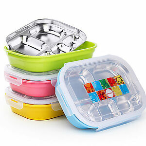 COU Children Kids Stainless Steel Thermal Bento Lunch Box Food