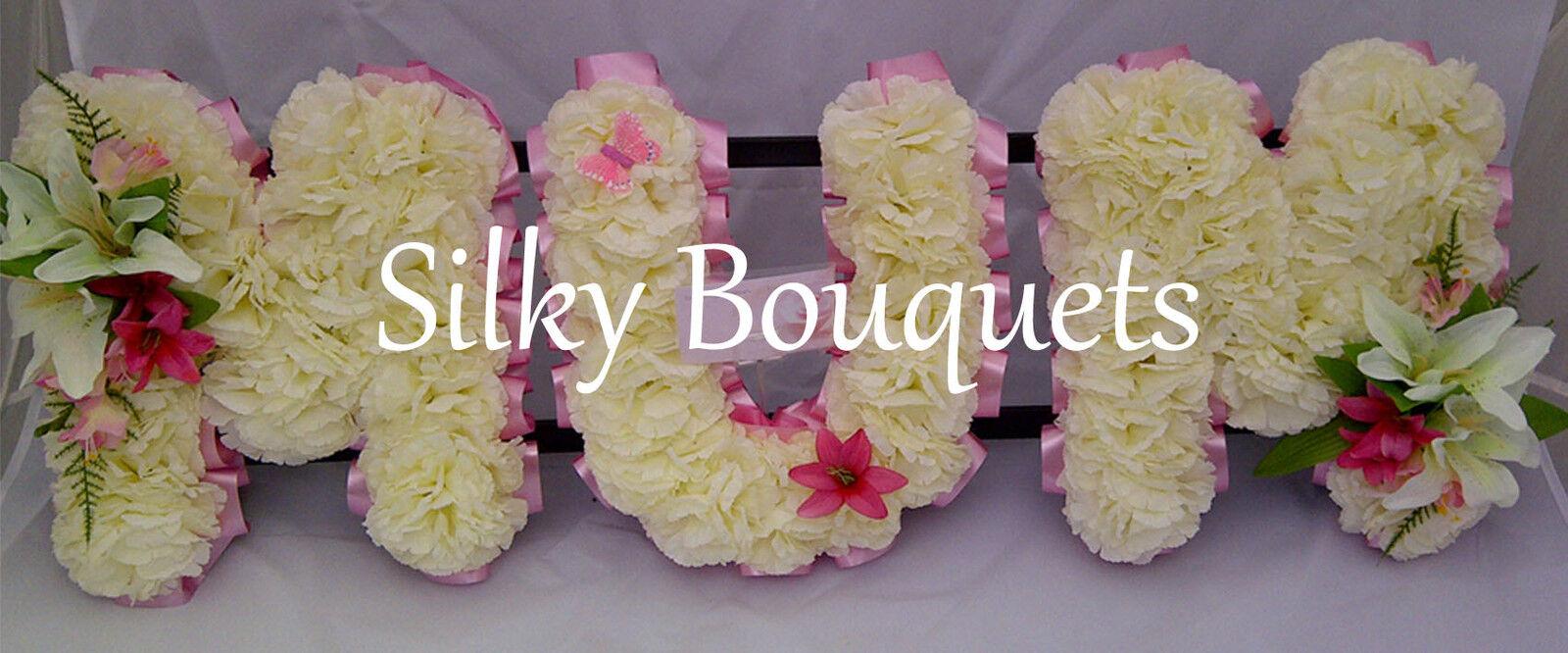 Mum Artificial Silk Funeral Flower Any 3 Letter Word Name Tribute Memorial Nan
