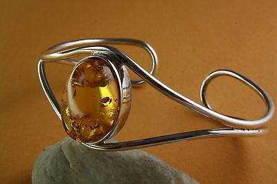 Design Bernstein Armreif Silberarmreifen 925 Silber / 435 Kaufen Sie Immer Gut