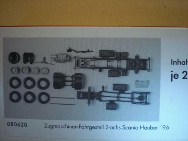 080620//hn42 Herpa telaio per Scania Hauber/'96-2 ACH 2 pezzi-N
