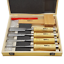 ROX Wood 8-Pieces Woodworking Carving Tool Chisel Set With Red Beech Wood Handle