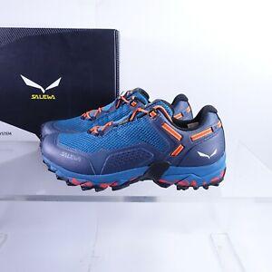 Size 7.5 Men's / 8.5 Women's Salewa Speed Beat GTX Hiking Shoes Navy Waterproof