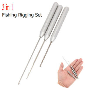3-in-1-Combo-Set-Carp-Fishing-Rigging-Bait-Needle-Drill-Tackle-stainless-steel