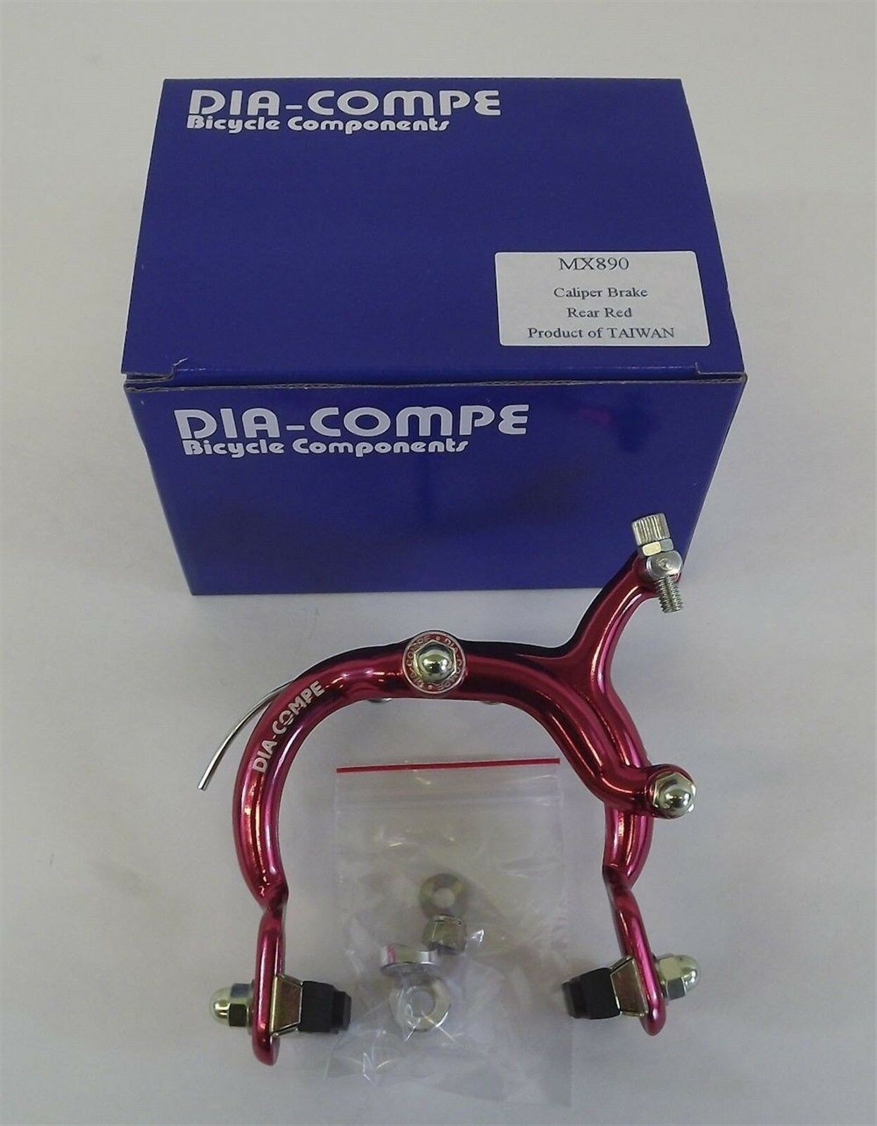 New Dia-Compe 890 Rear Brake Caliper Old School BMX Red Anodized