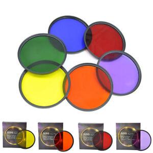 46mm-Full-Green-Orange-Red-Purple-Yellow-Blue-Color-Filter-For-DSLR-Camera-Lens