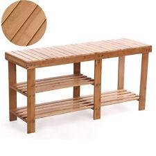 Shoe Rack Bench Hallway Storage Organizer Entryway Furniture Bamboo Stool  Seat