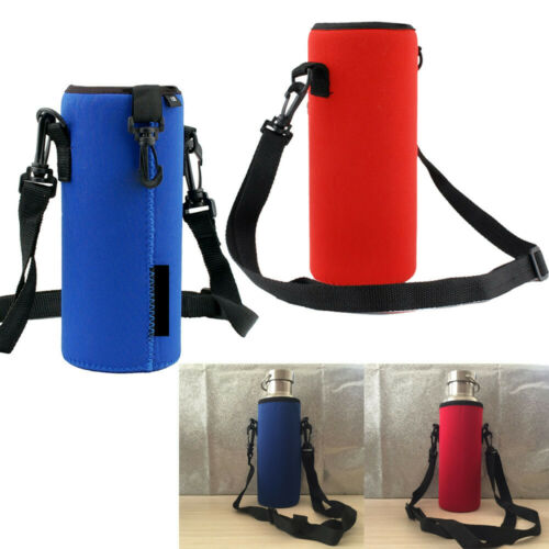 1000ML Water Bottle Carrier Insulated Cover Bags Holders Strap Pouch Outdoor