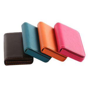 Pocket PU Leather Stainless Steel Business ID Credit Card Holder Case Wallet NEW
