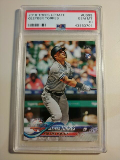 2018 Topps Update #US99 Gleyber Torres All Star Game rookie card PSA 10 Yankees