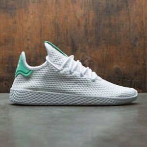 Adidas Pharrell Tennis HU PK Primeknit White Green BY8717 Size 11. nmd yeezy