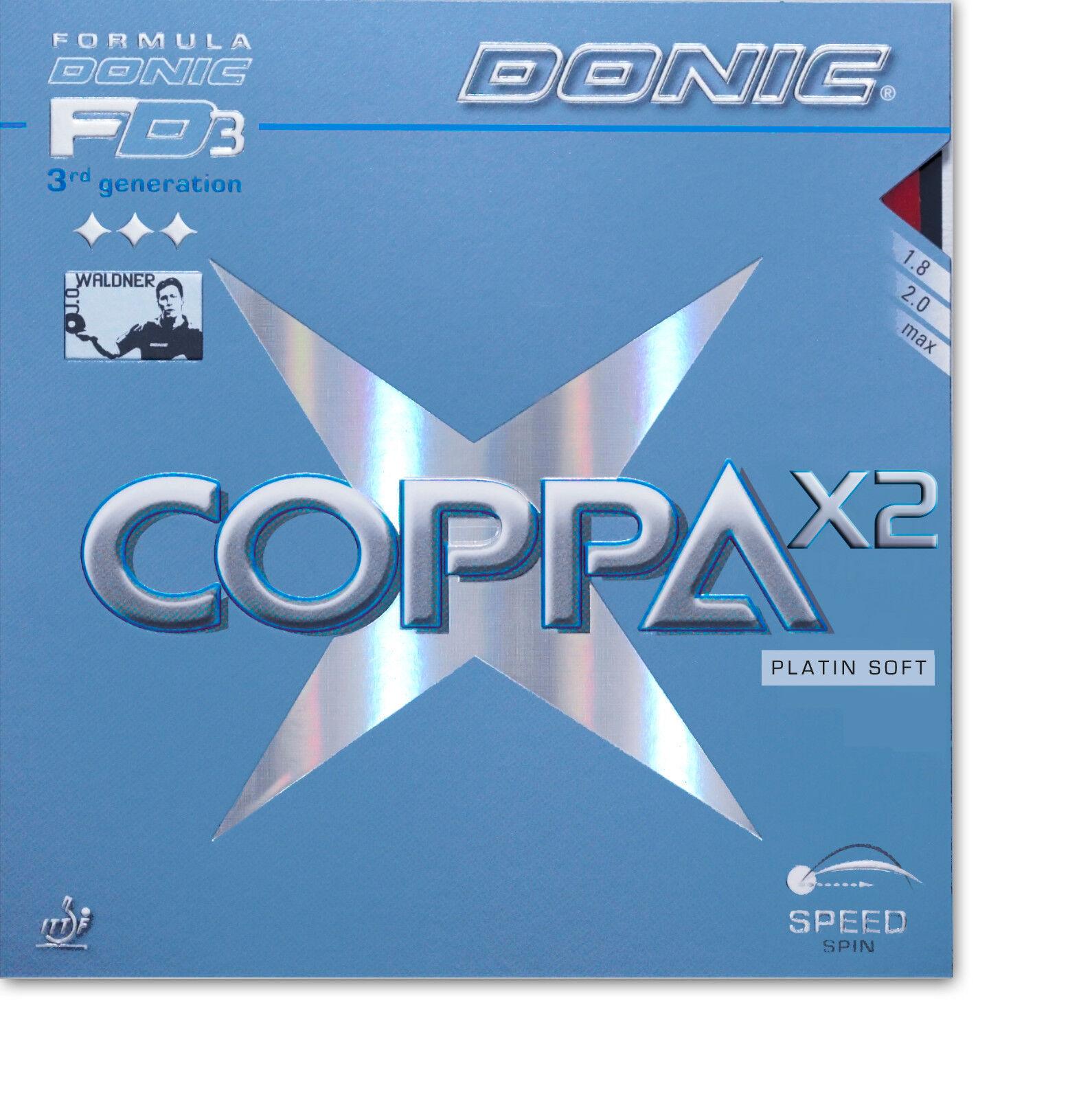 DONIC Coppa X2 Platin Soft max max max rot  NEU   OVP b96a89