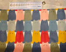 Quiet Cats Laminated Japanese Cotton Like Oil Cloth SOLD BY HALF METRE