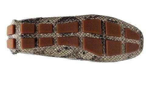 Cole Haan Haan Haan Shelby Logo Serpiente PRNT Cuero Mocasines zapatos para gris f7a782