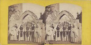 Italia-Italia-Monaci-Trappisti-Stereo-Vintage-Albumina-Ca-1860-65