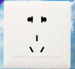 10A-3Pin-Power-Wall-Outlet-Socket-Plate-Panel-US-EU-AU-Plug-Screw