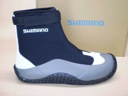 Shimano Flats Wading Fishing Boots Size 8 to 13 Black With White & Gray