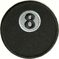 8 Ball Iron On Patch 3 X 3 Free Shipping Biker Patch Pool Patch P2568