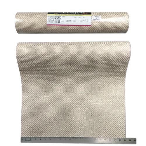 15m Wallpaper textured plain diamonds wall coverings rolls ivory gold metallic