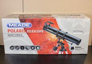 Meade-Polaris-Telescope-114EQ-D-114mm-4-5-Reflecting-Telescope-NEW-DAMAGED-BOX