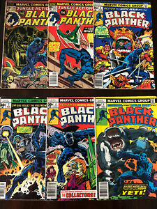 Black-Panther-6-Issue-Bronze-Age-Black-Panther-and-Jungle-Action-Lot-10-24-2-4-5