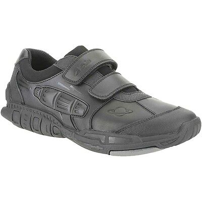 Clarks Trainers Club Samba Light Grey Leather Kids Shoes Various Sizes