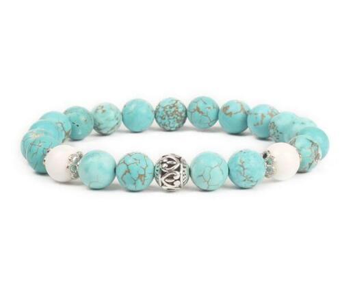 environ 19.05 cm 8 Mm Imperial Jasper Bracelet extensible Handmade 7.5 in bouddhisme guérison Reiki