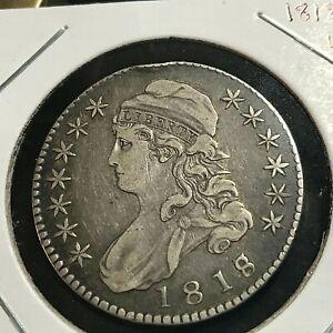 1818/17 LARGE 8   BUST HALF SILVER DOLLAR SCARCE COIN