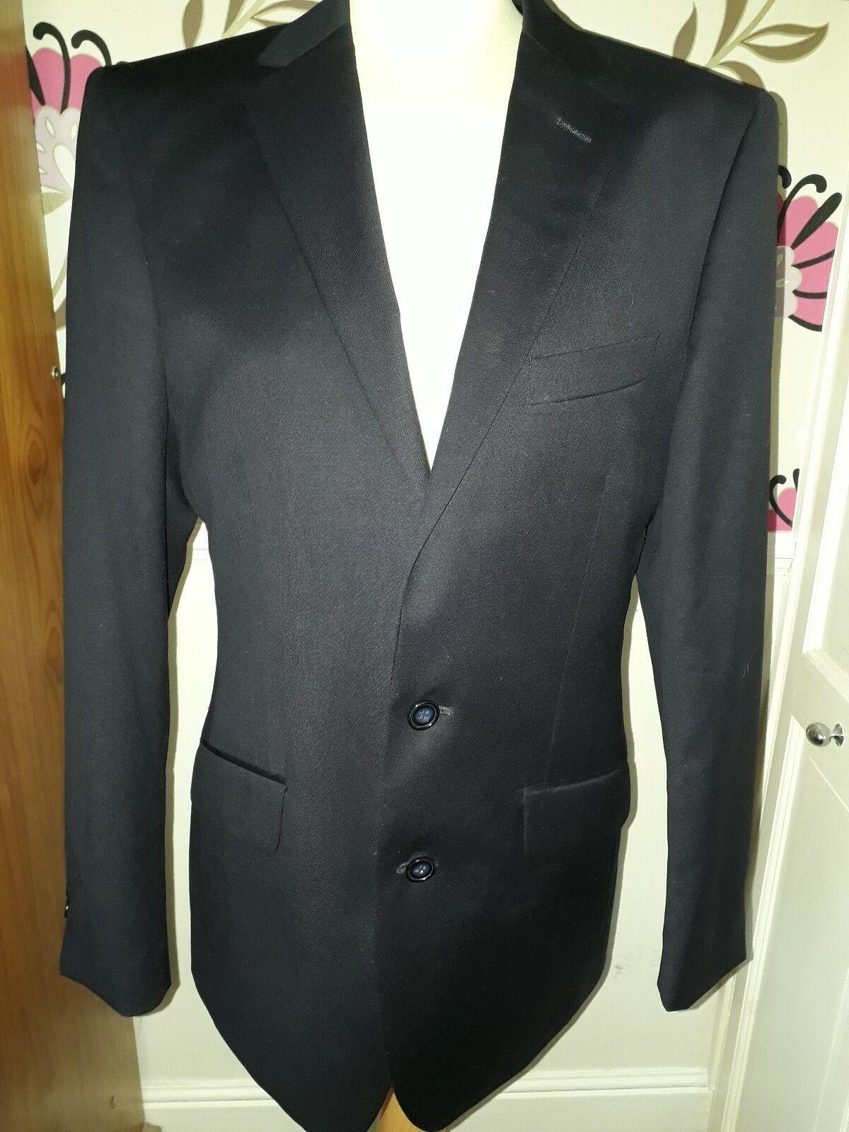 Gianfilippo Benci 100% Laine Super 150 S tour bleu foncé Blazer Jacket  taille M tour ccdc88a2721f