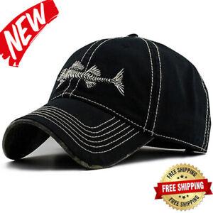 a9369f441 Details about AKIZON Fishing Mens Hats - Baseball Cap Fishing Hat Cotton -  Mens Adjustable Cap