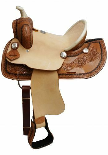 12  Double T  Youth roper style saddle with hard seat