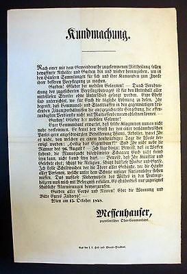Temperamentvoll Plakat Wiener Revolution Wien 1848 Kundmachung Nationalgarden Proklamation ( 7 Durch Wissenschaftlichen Prozess