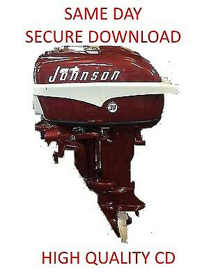 1956 1970 Johnson Evinrude 5 40 HP OUTBOARD Motor Service Repair Manual