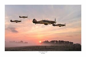 WWII-WW2-RAF-Hawker-Hurricane-Ace-Pilot-Aviation-Art-Photo-Print-8-034-X-12-034